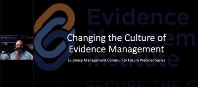 evidence management culture change